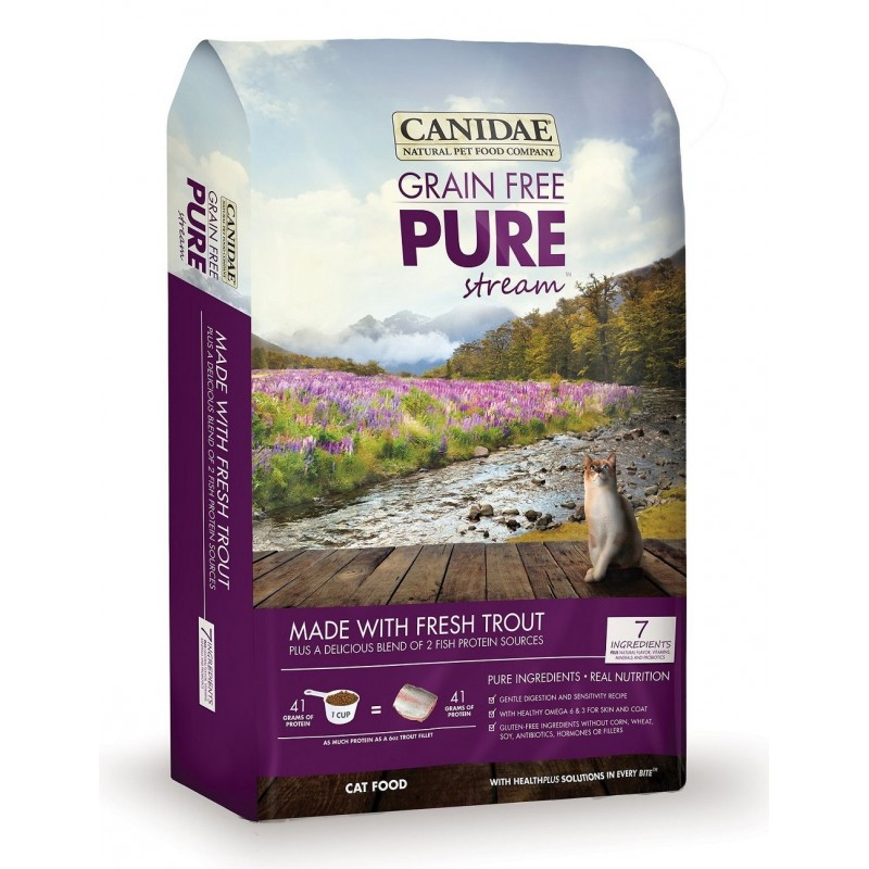 CANIDAE PURE Stream 無穀物鱒魚配方貓糧