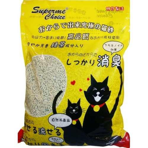 SUPERME CHOICE 豆腐貓砂 綠茶味 (7L)
