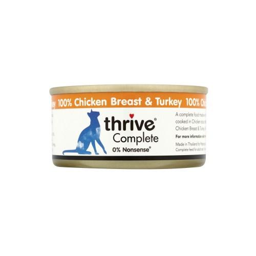 THRIVE 脆樂芙 鮮雞胸肉+鮮火雞胸肉貓罐頭
