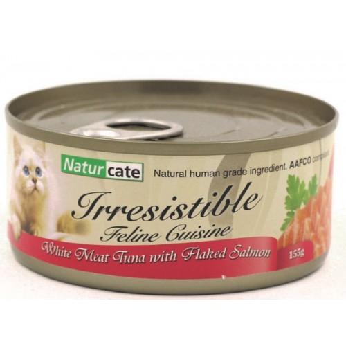 NATURCATE 白肉吞拿魚,三文魚絲 濕貓糧