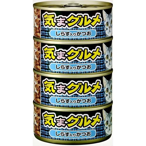 AIXIA 大黑罐 気まグルメ 鰹魚伴銀魚 4罐(藍色)貓罐頭