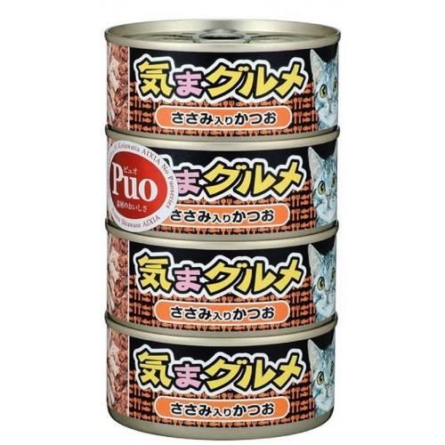 AIXIA 大黑罐 気まグルメ 鰹魚伴吞拿魚 4罐(橙色)貓罐頭