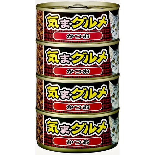 AIXIA 大黑罐 気まグルメ 海洋鰹魚 4罐(紅色)貓罐頭