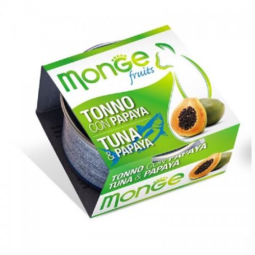 MONGE Fruits 清新水果系列 - 吞拿魚木瓜貓罐頭