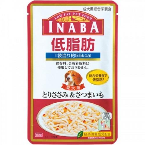 INABA 低脂肪軟包 雞小胸肉+地瓜(甜薯)濕狗糧