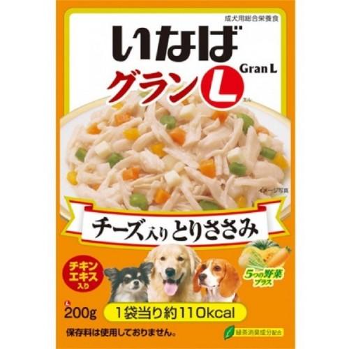 INABA Gran L 雞肉五種野菜(芝士入)濕狗糧