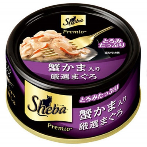 SHEBA 日式黑罐 嚴選吞拿蟹棒貓罐頭