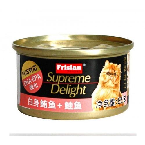 FRISIAN 富力鮮 白身鮪魚+鮭魚貓罐頭