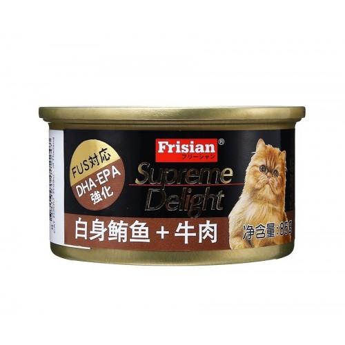 FRISIAN 富力鮮 白身鮪魚+牛肉貓罐頭