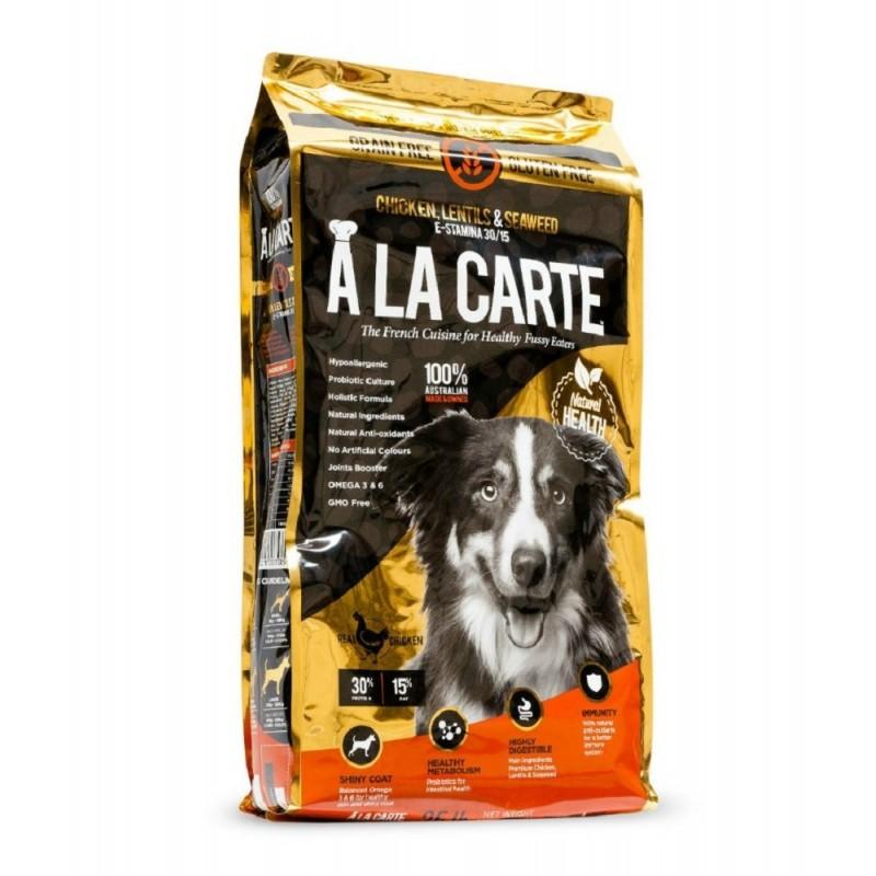 A LA CARTE 無穀物雞肉鷹咀豆海藻配方乾全犬糧