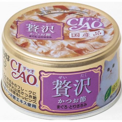 CIAO 奢華 木魚片+吞拿魚+雞肉貓罐頭