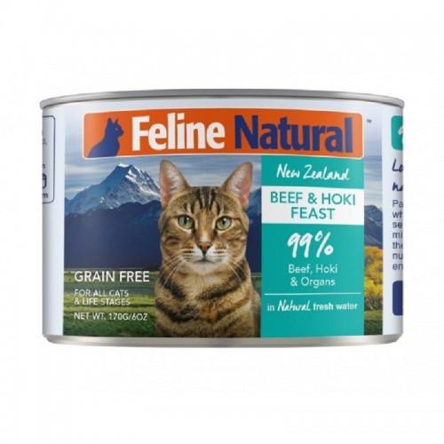 FELINE NATURAL 牛肉及藍尖尾鱈魚主食貓罐頭