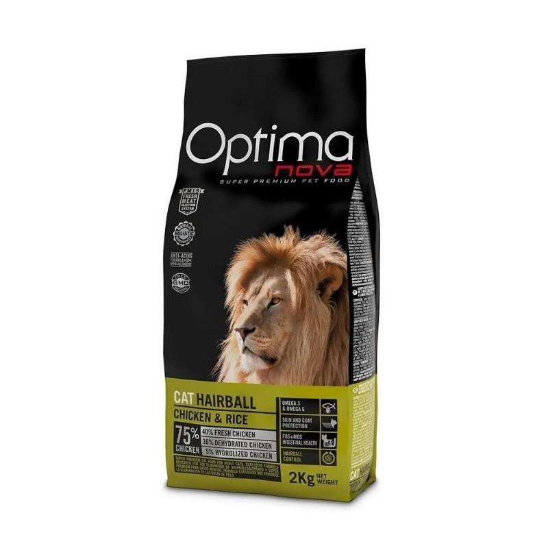 OPTIMA NOVA 獅王毛球清除配方乾貓糧