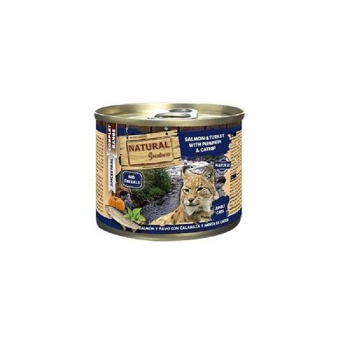 NATURAL GREATNESS 三文魚和火雞貓罐頭