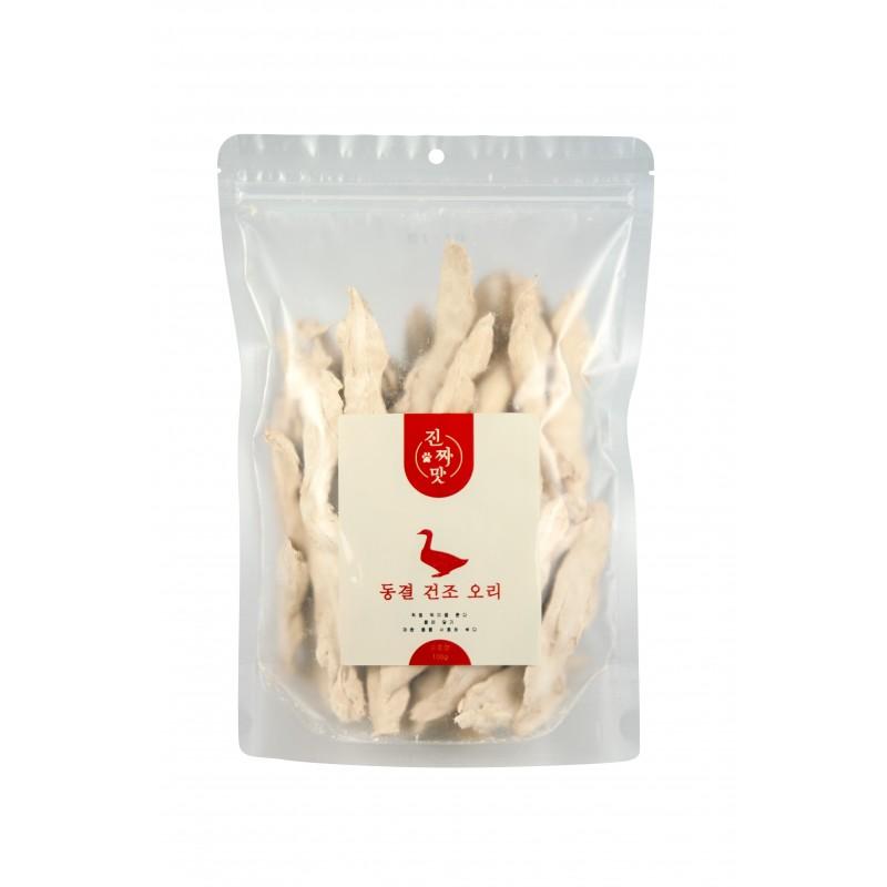 真味 韓國凍乾小食 - 鴨柳肉 100g 貓狗合用 Korean Freeze Dried Snack - Duck Strips for Cats and Dogs