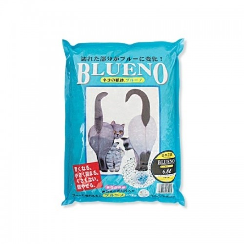 BLUENO 藍色 紙製凝固貓砂 6.8L