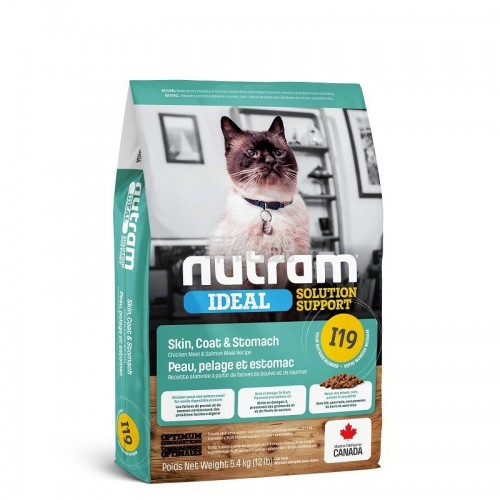 NUTRAM Ideal I19 敏感腸胃, 皮膚貓糧 1.13 Kg/5.4 Kg