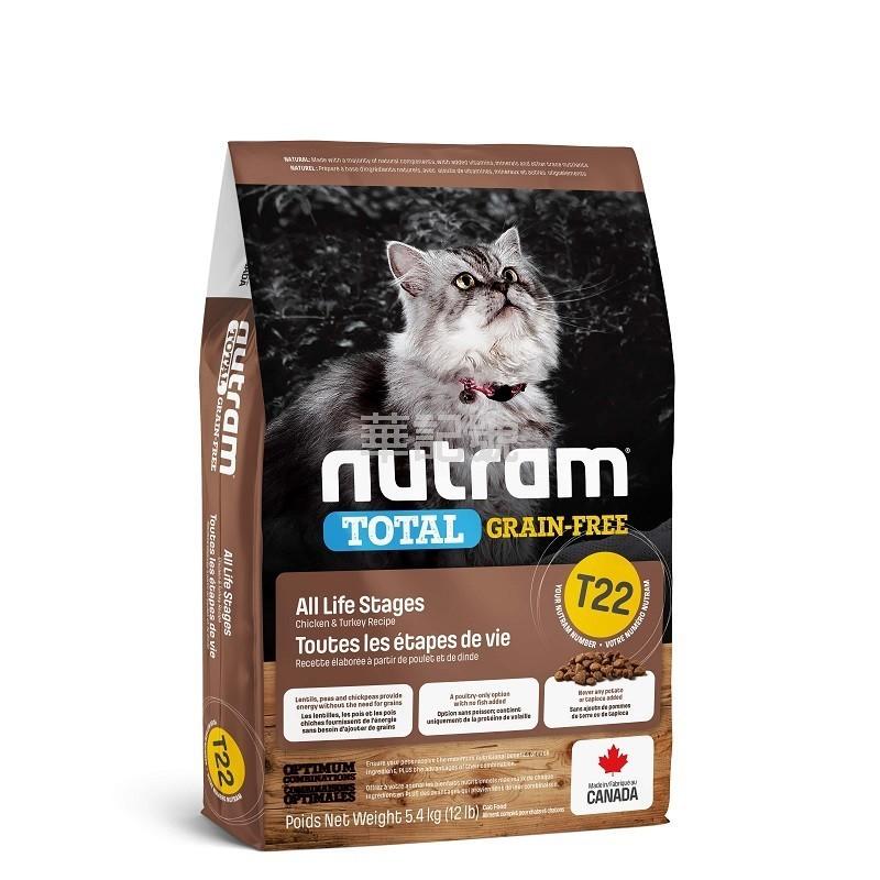 NUTRAM Total T22 雞+火雞無薯無穀貓糧
