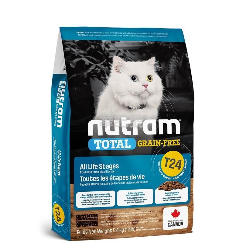 NUTRAM - TOTAL T24 三文魚+鱒魚無薯無穀貓糧