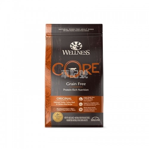 WELLNESS Core Original 無穀物 雞肉配方乾狗糧 4 Lb/12 Lb/24 Lb