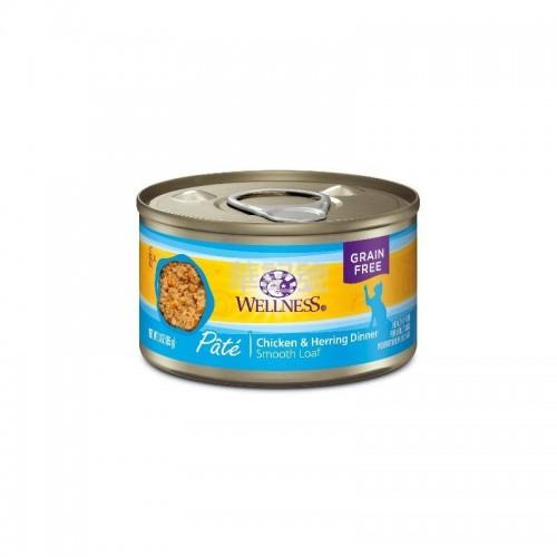 WELLNESS Complete Health Pâté 肉醬 無穀物雞肉拼魚肉貓罐頭 85 G/156 G