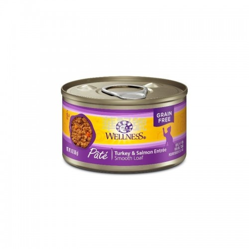 WELLNESS Complete Health Pâté 肉醬 無穀物火雞拼三文魚貓罐頭 85 G/156 G