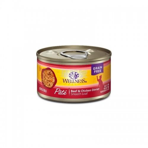 WELLNESS Complete Health Pâté 肉醬 無穀物牛肉拼雞肉貓罐頭 85 G/156 G