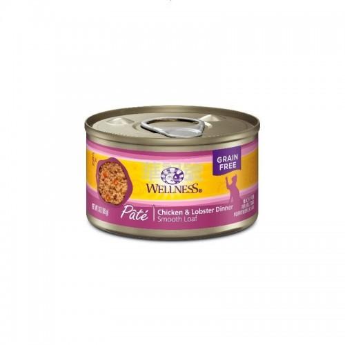 WELLNESS Complete Health Pâté 肉醬 無穀物雞肉拼龍蝦貓罐頭 85 G/156 G