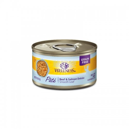 WELLNESS Complete Health Pâté 肉醬 無穀物牛肉拼三文魚貓罐頭 85 G/156 G