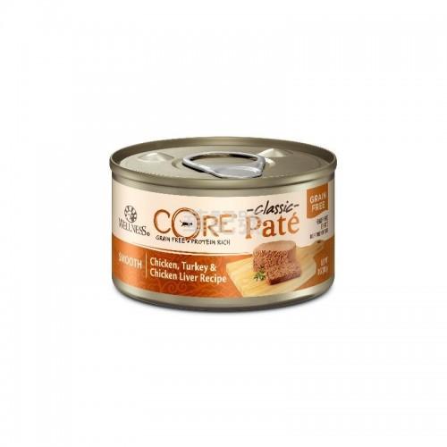 WELLNESS Core Pâté 肉醬 無穀物 雞肉火雞雞肝貓罐頭 156 G