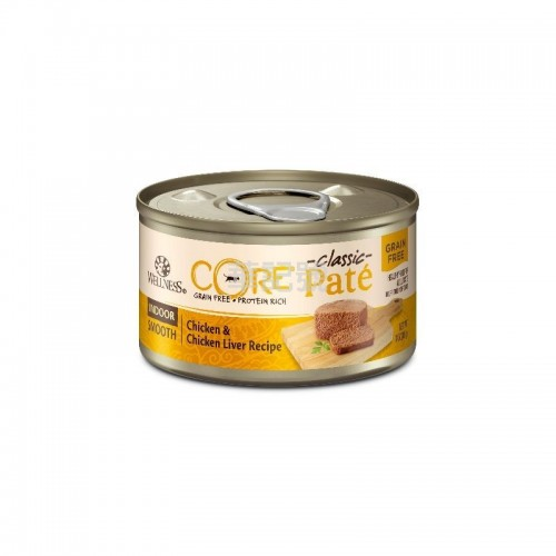 WELLNESS Core Pâté 肉醬 無穀物 室內除臭 雞肉雞肝貓罐頭 156 G