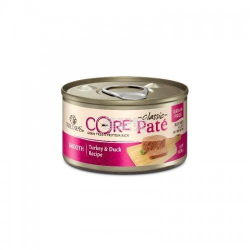 WELLNESS Core Pâté 肉醬 無穀物 火雞拼鴨肉貓罐頭 156 G