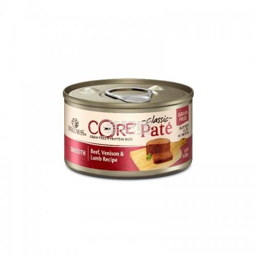 WELLNESS Core Pâté 肉醬 無穀物 牛肉鹿肉拼羊肉貓罐頭 156 G