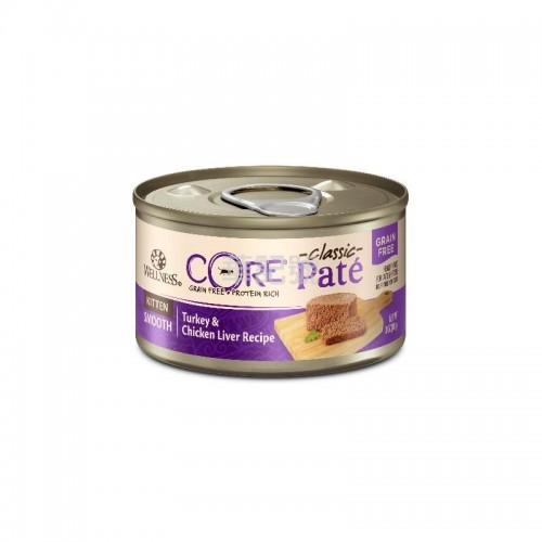 WELLNESS Core Pâté 肉醬 無穀物 幼貓配方(火雞雞肝)貓罐頭 156 G