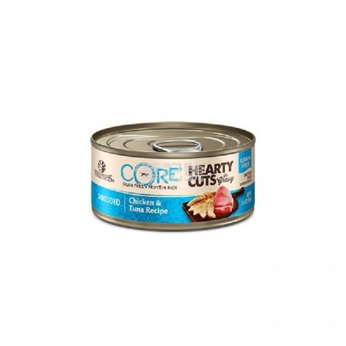 WELLNESS Core Hearty Cuts 厚切 無穀物雞肉吞拿魚貓罐頭 156 G