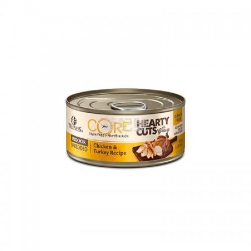 WELLNESS Core Hearty Cuts 厚切 無穀物 室內貓配方 雞肉火雞貓罐頭 156 G