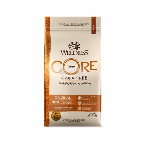 Wellness Core 無穀物 火雞拼雞肉配方乾貓糧 5 Lb/11 Lb
