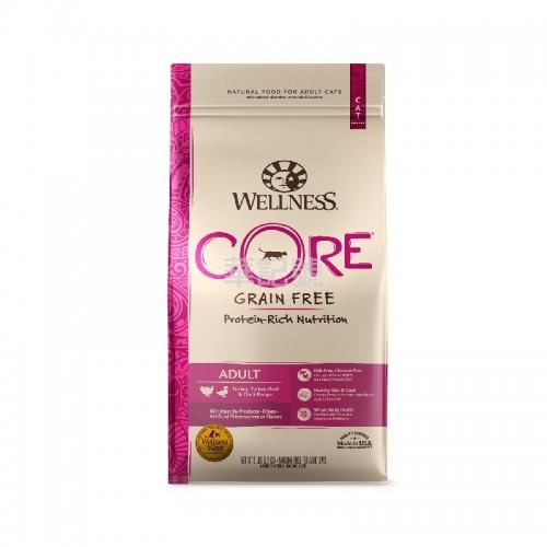 Wellness Core 無穀物 火雞拼鴨肉配方乾貓糧 5 Lb/11 Lb