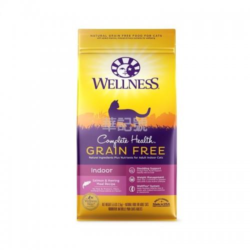 WELLNESS Complete Health 無穀物室內貓魚類配方乾貓糧 5Lb8Oz/11Lb8Oz