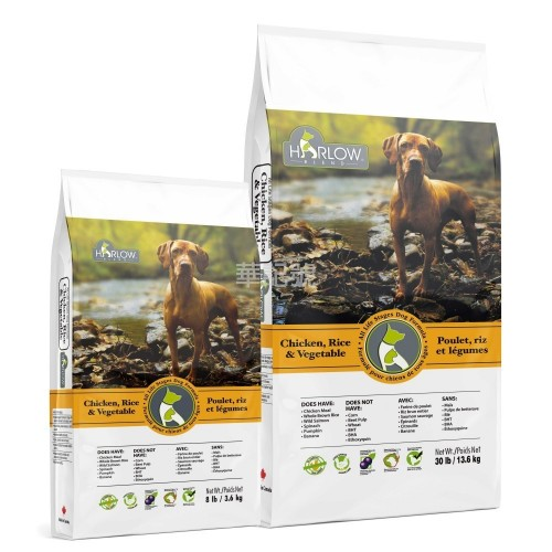 HARLOW BLEND 楓葉 雞,飯,三文魚,鮮果蔬菜全犬乾糧 Chicken, Rice & Vegetable Dry Dog Food