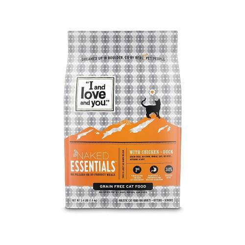I AND LOVE AND YOU Naked Essentials 雞肉鴨肉無穀物配方乾貓糧 3.4 Lb