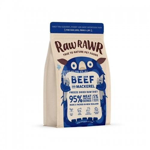 RAW RAWR 冷凍脫水糧 牛肉+鯖花魚 乾狗糧 400G / 3 x 400G