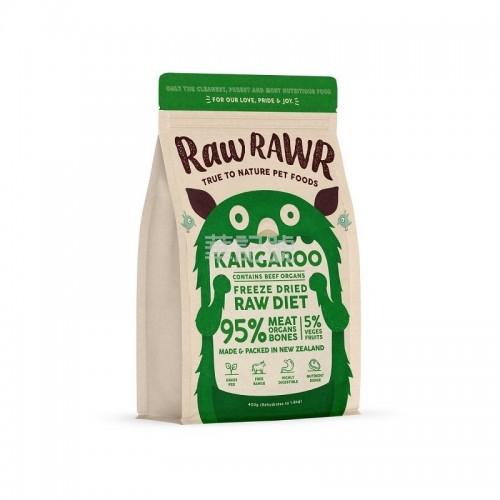 RAW RAWR 冷凍脫水糧 袋鼠肉+牛內臟 乾狗糧 400G / 3 x 400G
