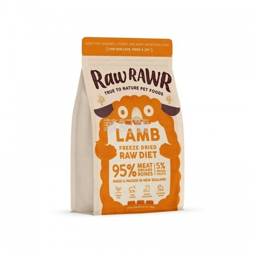RAW RAWR 冷凍脫水糧 羊肉 乾狗糧 400G / 3 x 400G